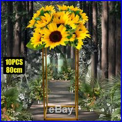 10pcs Set Lawn Wedding Road Lead 80cm Metal Flower Plant Stand Vase Floor Column