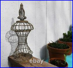 16 GARDEN ART topiary frame climbing plant cage wire metal statue vine peas ivy