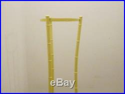 1970's Mid Century Modernism Hollywood Regency Yellow Metal Bamboo Plant Stand