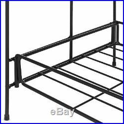 2 Niveles Soporte De Planta De Metal Multiusos Para Interior y Exterior Estantes