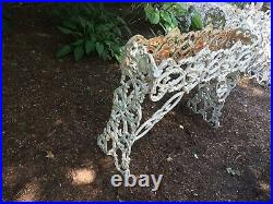 (2) Pair Victorian Cast Iron Grape Vine Plant Stand Planters CAPE COD PICKUP