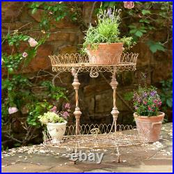 2 Tier French Wire Plant Stand Metal