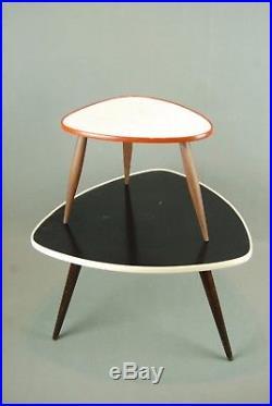 2 x Plantstands / Tables Mid Century Danish Modern Plant Stand Vintage 60s 70s