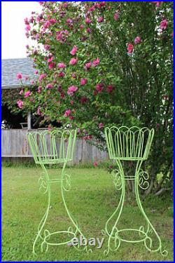34 Wrought Iron Deep Basket Plant Stand Metal Flower Holder for Your Garden