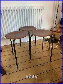 3 Arne Jacobsen dot stool for Fritz Hansen Stool Or Fab Plant Stand