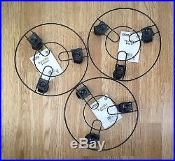 3 pack Round Plant pot Trolley 23cm Metal Stand with Wheels Black UK seller