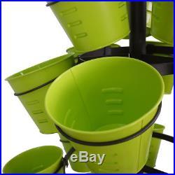 4-Tier 30-Pot Metal Shelf Flower Pot Plant Stand Garden Outdoor Indoor Rack Set
