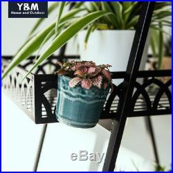 4 Tier Metal Flower Pot Plant Stand Flower Planter Rack Shelves Organizer Garden