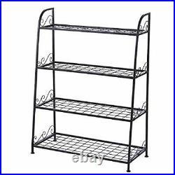 4 Tier Plant Metal Stand Shelf Bakers Rack for Outdoor Indoor Plants Shelves