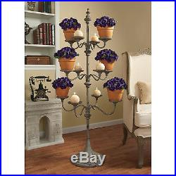 55 Decorative Distressed Metal Candle Plant Food Wedding Display Tree Stand