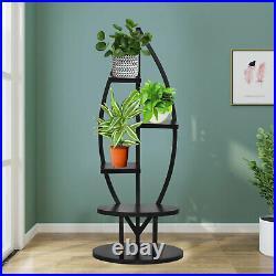 5Tier Metal Flower Pot Plant Stand Holder Candle Pot Shelf Rack Indoor Outdoor