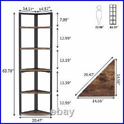 5-Tier Corner Rack Organizer Storage Display Shelf 63 Free-standing Plant Stand