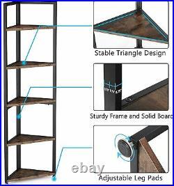5 Tier Corner Shelf, Display Plant Flower, Stand Bookshelf for Balcony, Kitchen