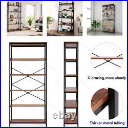5 tier Ladder Bookcase, Industrial Bookshelf, Plant Flower Stand Rack Book Rack
