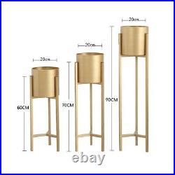 60-90cm MODERN Plant Rack Stand Ceramic Pot Display Metal Indoor Outdoor Holder