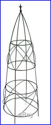 60 Large Black Outdoor Patio Garden Flower Herbs Circular Obelisk Plant Stand