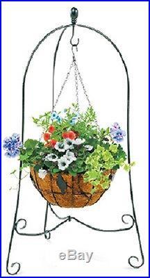 (6) ea Panacea 86630 40 x 24 Folding 3 Leg Steel Hanging Basket Plant Stands