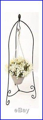 "6 ea Panacea  86630 40/"" x 24/"" Folding 3 Leg Steel Hanging Basket Plant Stands"