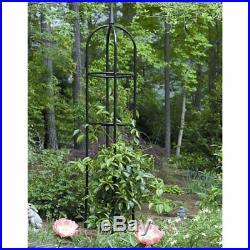 78 Inch Black Metal Standing Outdoor Garden Flower Plant Support Trellis Tower