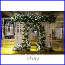 7.7FT Metal Garden Arch Climbing Plants Stand Trellis Arbor Bridal Party Decor