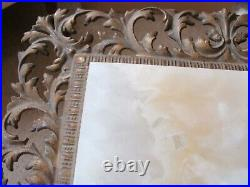 ANTIQUE Victorian Cast Iron Plant Fern Stand Ornate Table w MARBLE / ONYX 31