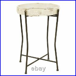 Accent End Table Sofa Side Plant Stand Modern Farmhouse Shabby Chic Living Room