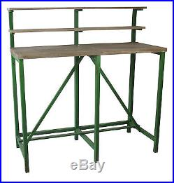 American Mercantile Wood And Metal Potting Table
