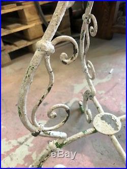 Antiker Blumenständer H 74 cm Zierständer Obstständer Eisen Metall 4 Füsse