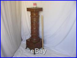 Antique Art Display Pedestal Vintage Brass Metal Plant Stand British Design A+++