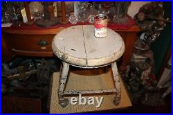 Antique Industrial Milking Cow Stool Factory Stool Wheels Plant Stand Garden #2