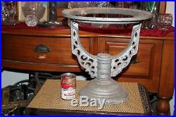 Antique Victorian Boiler Stand Architectural Garden Plant Stand Metal #1