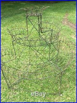Antique Victorian Delicate Wire Work Plant Stand 3-Tier 1860-1880 BR Louisiana