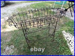 Antique Vintage Twisted wire metal planter outdoor furniture garden plant Stand