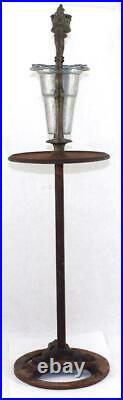 Antique c. 1850 Old Colony Iron Works Double Dragon Cast Iron Smoke Stand Ashtray