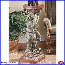 Art Deco Good Fortune Elephant Triumph 49.5 Sculptural Pedestal Centerpiece