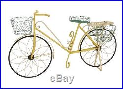 BNZR-28947-Benzara The Funky Metal Bicycle Plant Stand