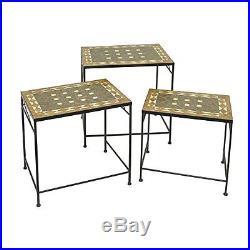 BNZR-HRT88973-BENZARA Charismatic Metal Plant Stand Set Of 3 / HRT-88973 /