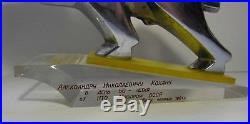 BUFFALO ON STAND Soviet Belarussian plant MAZ badge BIZON Big metal gift 1981