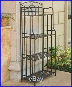 Bakers rack plant stand multiple plants indoor metal tall - Indoor plant stands for multiple plants ...
