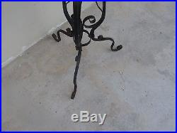 Beautiful 1920's Wrought Iron Stand For A Ceramic Pottery