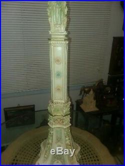Beautiful Vintage Carved Wood Pedestal Plant Stand