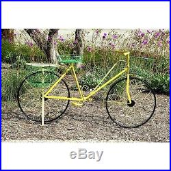 Bicycle Planter Metal Garden Outdoor Decorative Accent Planter Plant Stand NEW