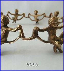 Brass Cherub Bowl Stand metal angel plate stands bowl pedestals plant holder