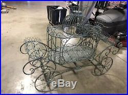 Cinderella Metal Carriage Plant Stand For Garden-indoor & Outdoor Usage