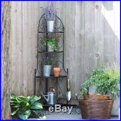 Corner Plant Stand Bakers Rack Storage Shelves Stand Durable Folding 4 Tiers NEW
