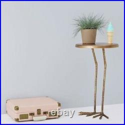 Crane bird feet metal legs side table plant stand display
