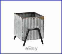 Deco 79 36793 Farmhouse Metal Plant Stands, 20 W x 21 H, Silver, Black