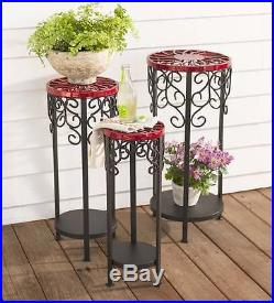 Decorative Metal Plants Stands, Set of 3 Stands