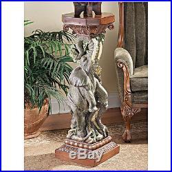 Design Toscano The Elephant's Triumph Pedestal Plant Stand