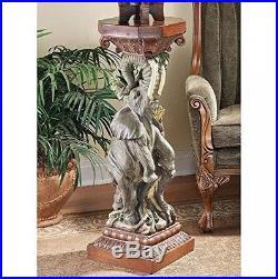 Design Toscano The Elephant s Triumph Pedestal Plant Stand